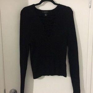 Black forever 21 ribbed black sweater